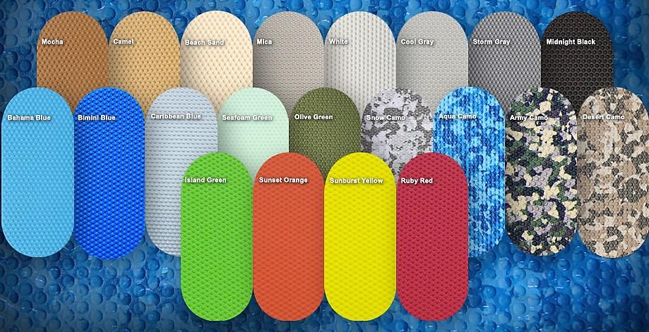Seadek antiscivolo per barche disponibile in una varieta di colori