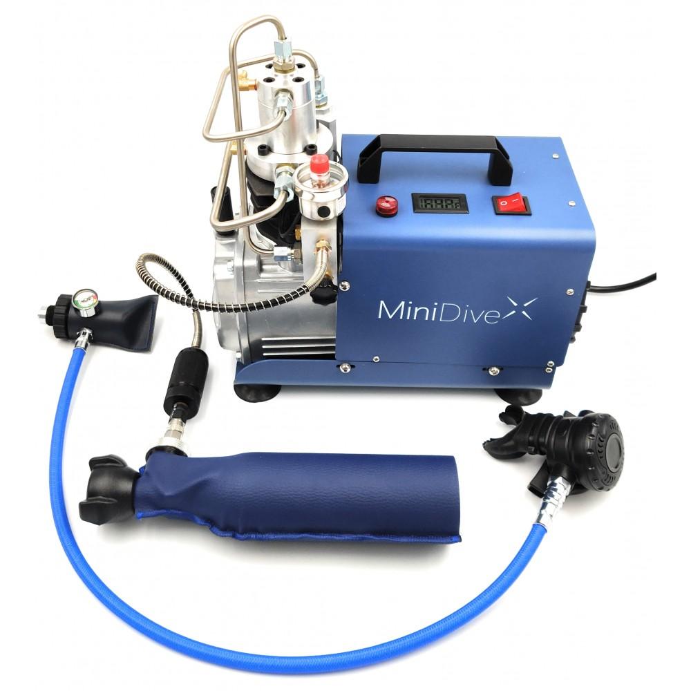 minicompressore minidive com bombolino da sub ricaricabile