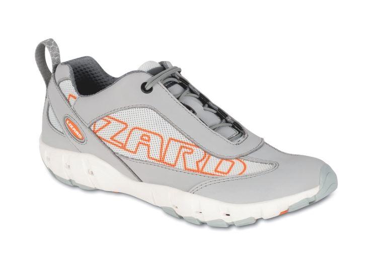 scarpe da barca a vela lizard crew colore grigio