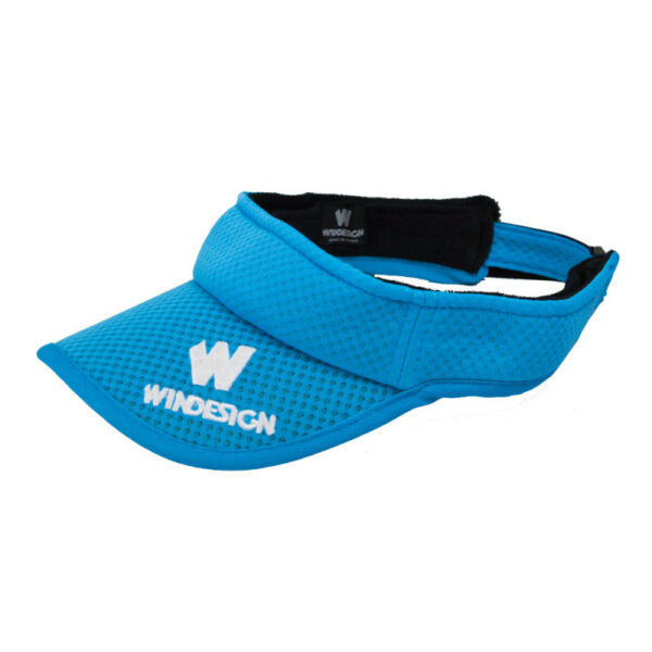 visiera parasole per deriva e sport acquatici Windesign azzurra