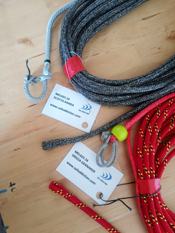 cime nautiche Gottifredi Maffioli Powergrip 78 e Marlow Ropes D2 Racing SK78 per scotte e drizze melges 24