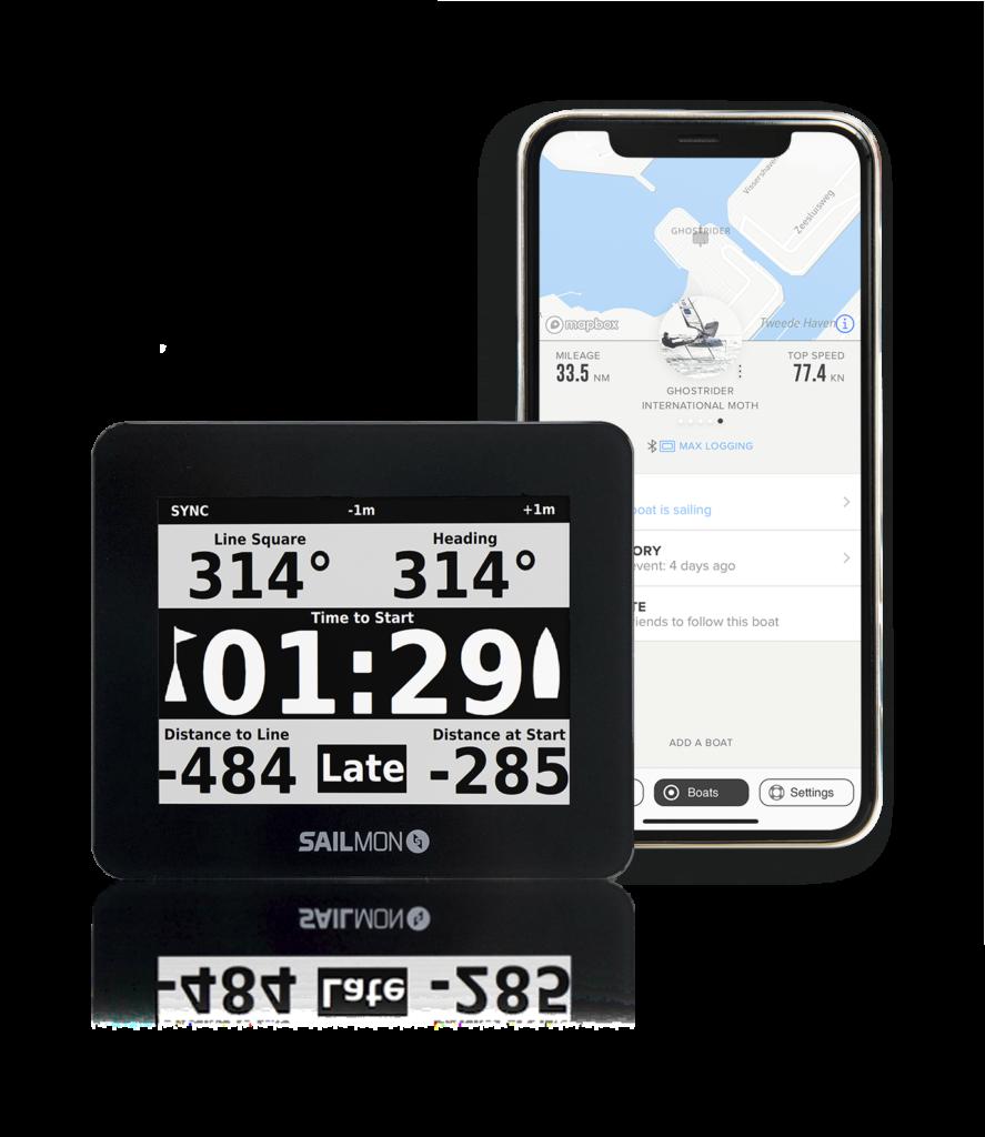 Sailmon Max strumento GPS per regate e barche a vela con app per scaricare i dati di navigaizone